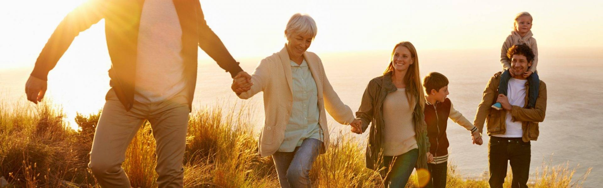 Healthy family after osteopathic treatment